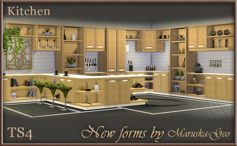 sims 4 kitchen cabinets download my sims 4 new forms kitchen cabinets by maruskageo 26147