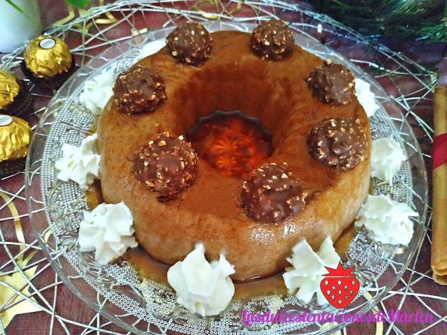 Flan de Ferrero Rocher