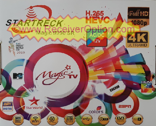 STARTRECK MAGIC 9990 SR AC/DC 12V HD RECEIVER GODA OPTION NEW SOFTWARE