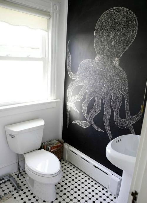Chalkboard Wall Bathroom