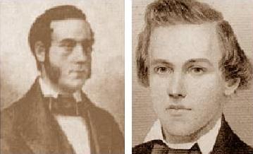 Los ajedrecistas Theodor Lichtenhein y Paul Morphy