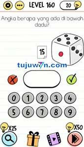 Level 160 jawaban angka berapa yang ada dibawah dadu?