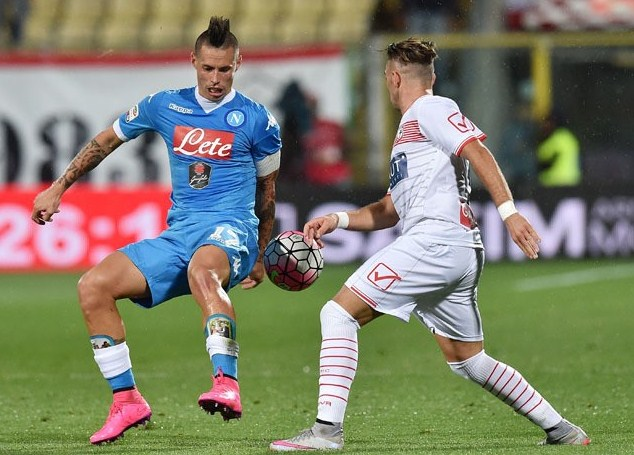 Napoli vs Carpi Italian Serie A