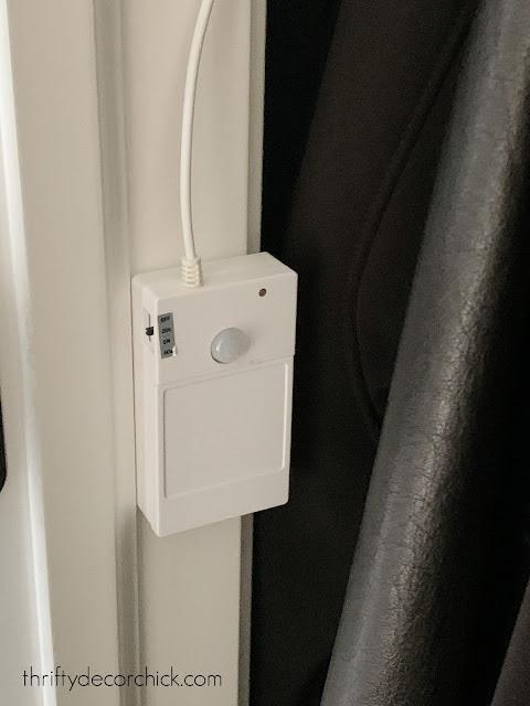 LED motion sensor strip lights in closet
