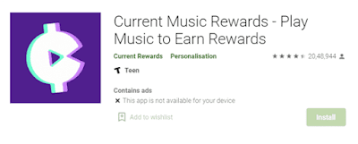 Current Rewards - Get Paid To Listen To Music