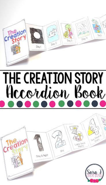 The Creation Story Mini Book is perfect for teaching kids about the seven days of creation.