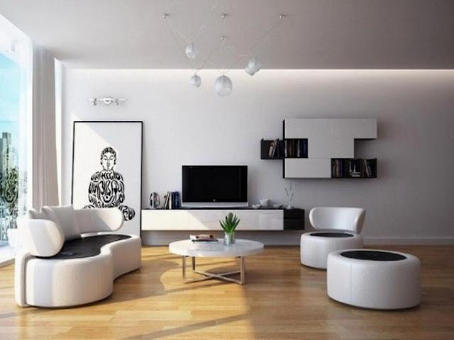 Kệ tivi phòng khách gỗ tông trắng sang trọng