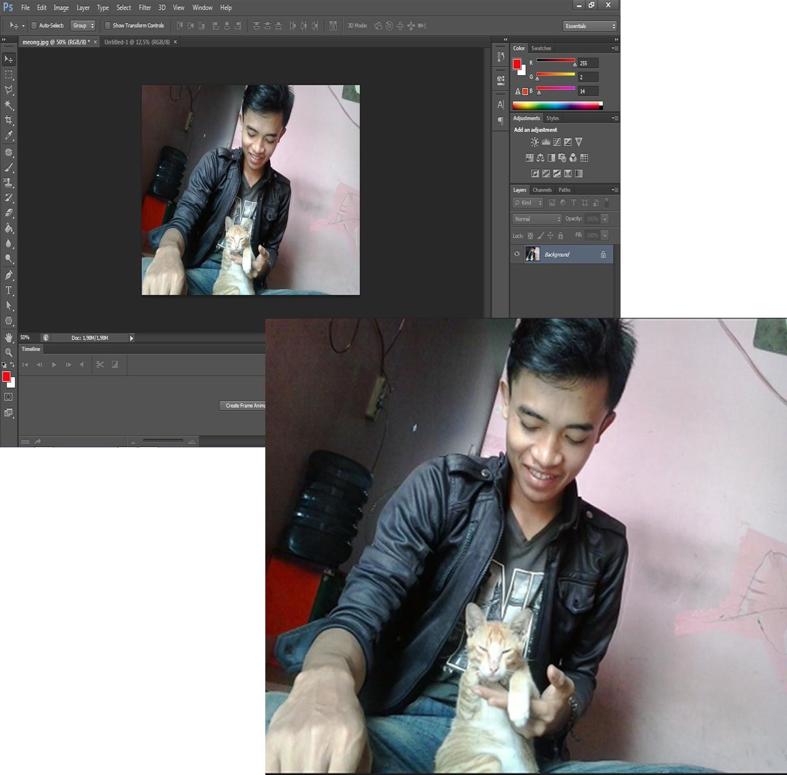Cara edit foto agar blur di belakang objek menggunakan ...