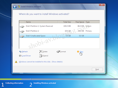 partisi - cara install windows 7 lengkap