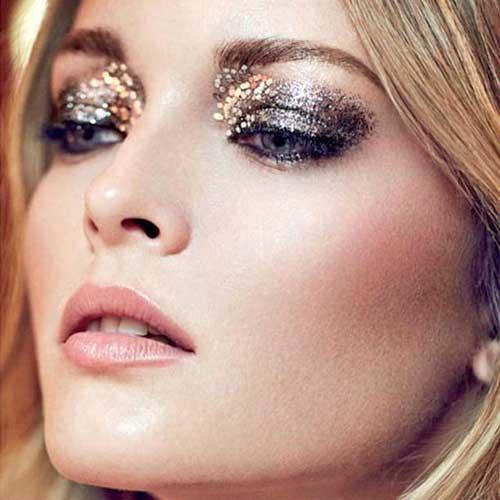 maquillaje ojos glitter purpurina tendencias otoño invierno 2016