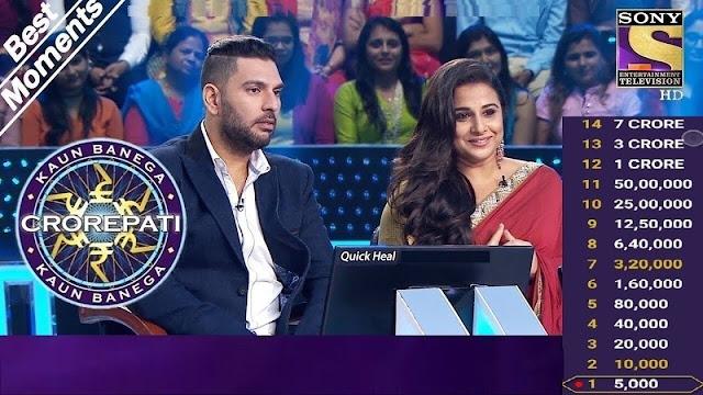 kbc live score with vidya balan bollywood actress in kbc game show