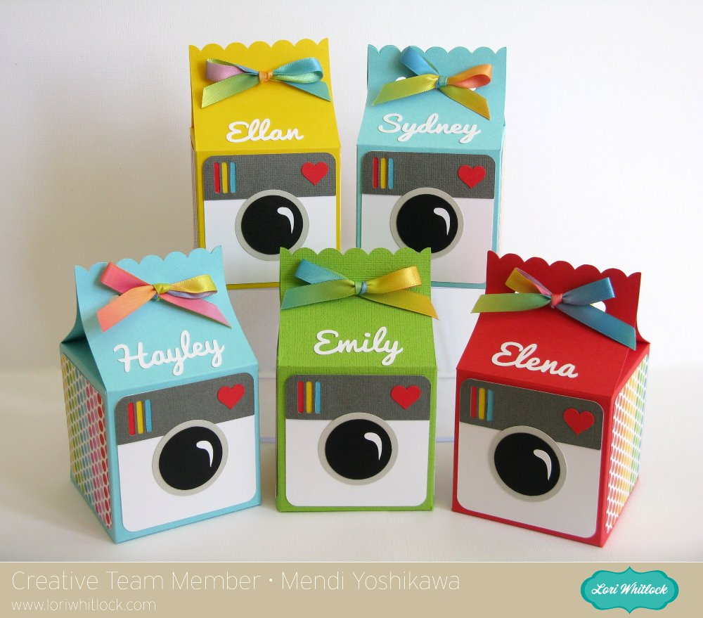 Personalized Instagram themed Birthday Treat Boxes by Mendi Yoshikawa