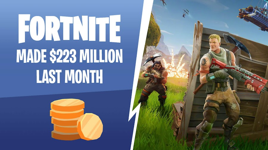 fortnite money made monthly 2018