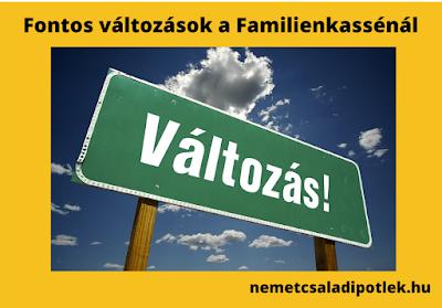 Fontos változás a Familienkasséknál a német családi pótlék ügyintézésben
