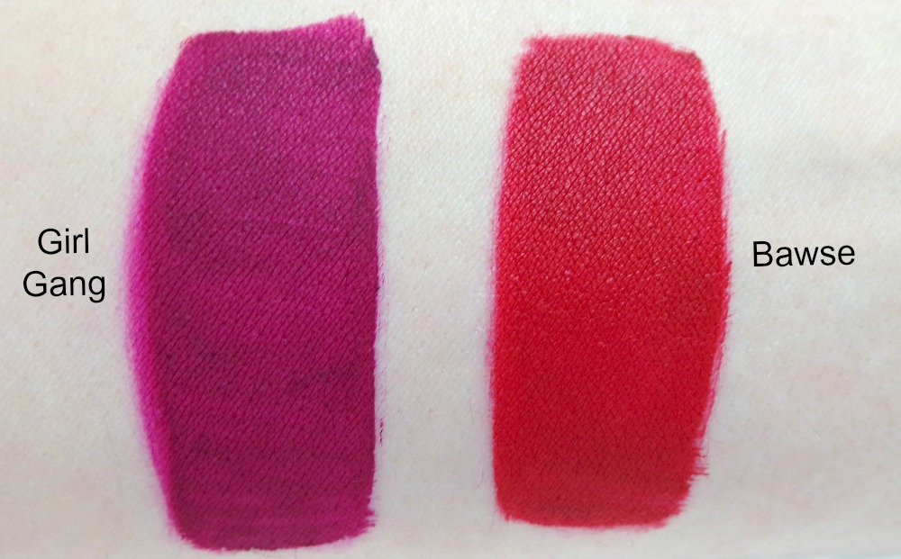 Smashbox Liquid Lipsticks swatches