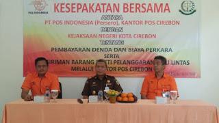 Pertama Di Jabar, Kejaksaan  Negeri Kota Cirebon Bekerja Sama Dengan PT.Pos  Dalam Peningkatan Pelayanan Kepada Masyarakat.
