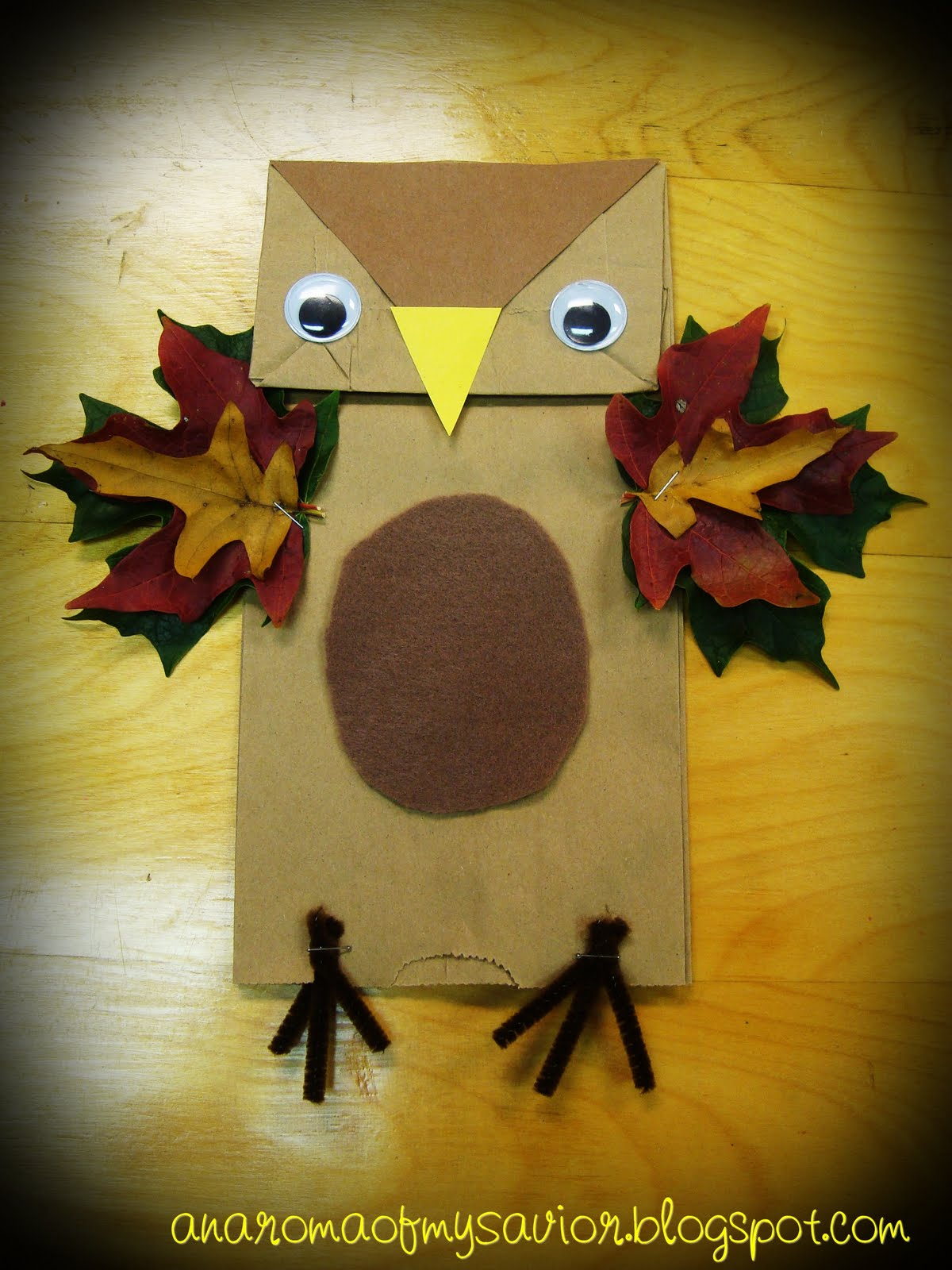 An Aroma Of My Savior Craft Fall Owl Puppet