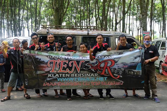 Keseruan Touring Bersama Acara Aniversary PEZ NKRI di Kampung Karet Karanganyar