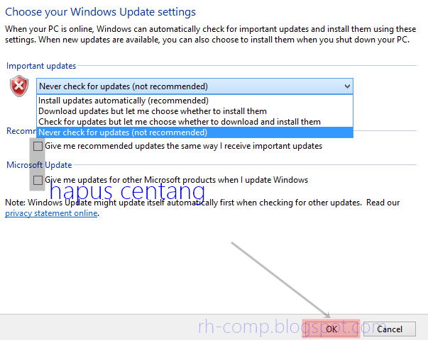 Cara Mematikan Automatic Update Pada Windows