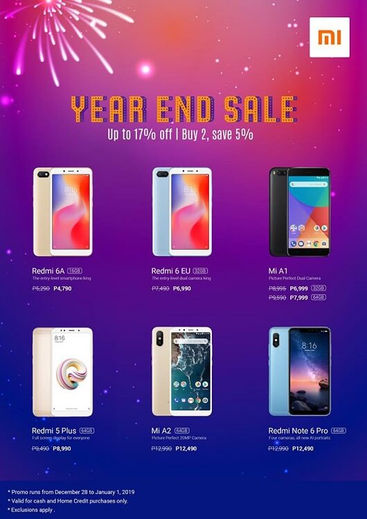 Xiaomi Announces Year-End Sale Promo
