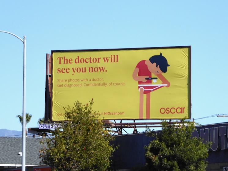 doctor will see you now Oscar Health billboard