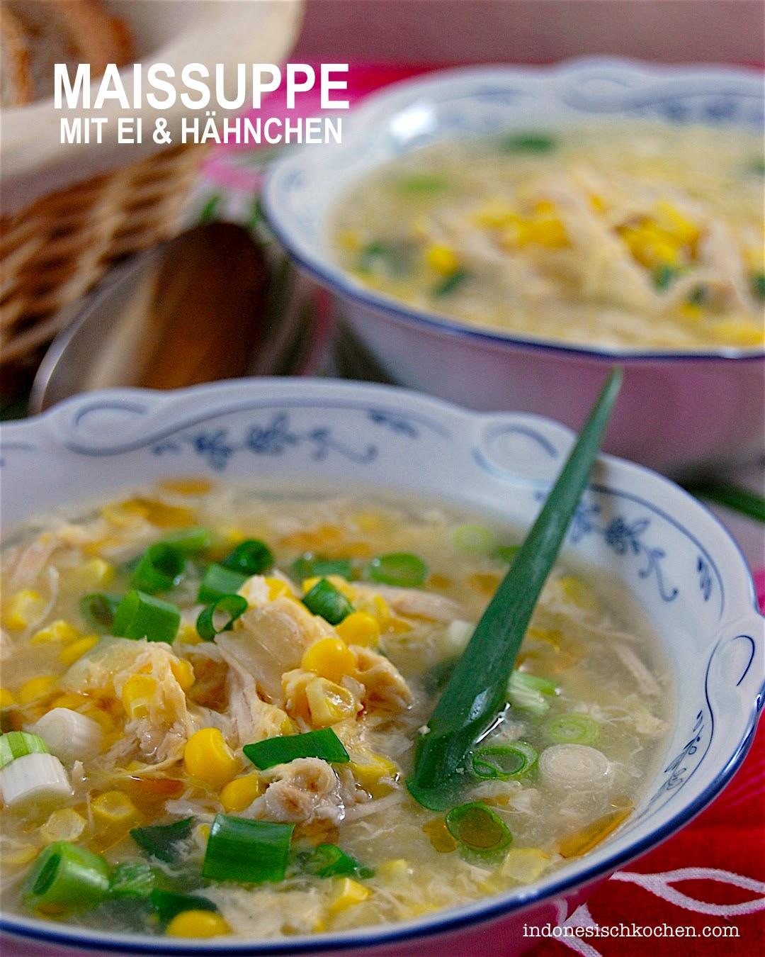 Rezept Asiatische Maissuppe mit Eierflocken Bali