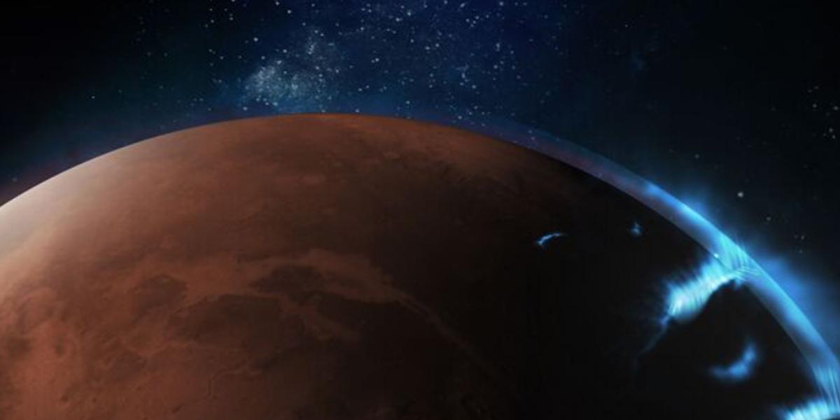 Primeras fotografías de la aurora discreta de Marte