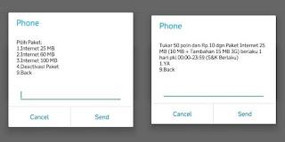 cara tukar poin telkomsel menggunakan dial-up
