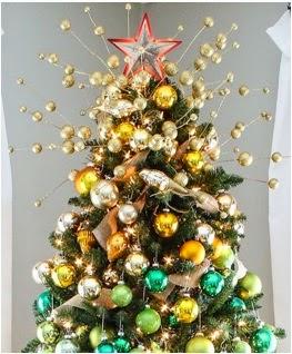 A mi manera c mo adornar la punta del rbol de navidad - Como adornar mi arbol de navidad ...
