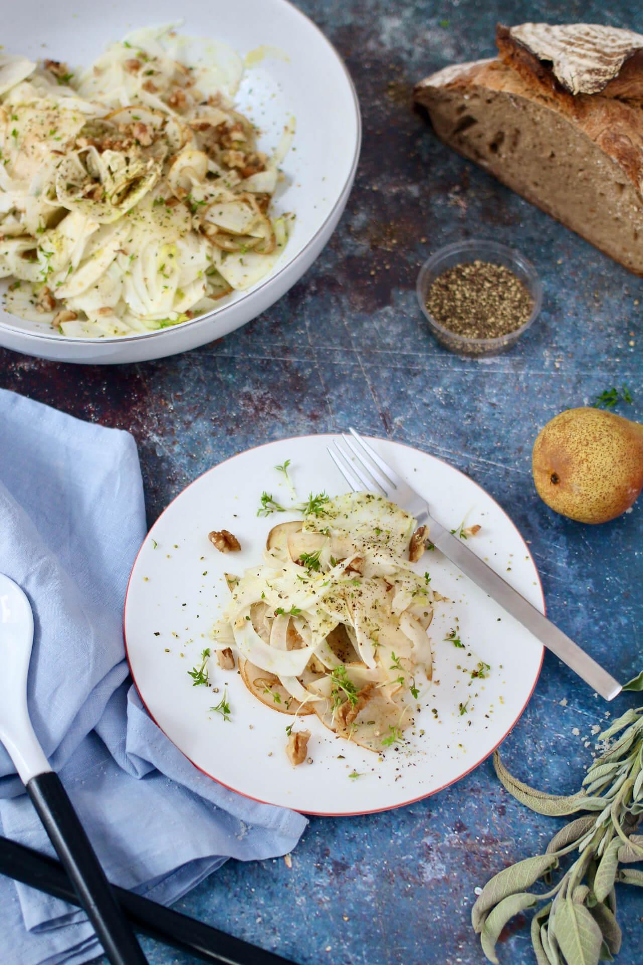Fenchel-Birnen-Salat Vegan