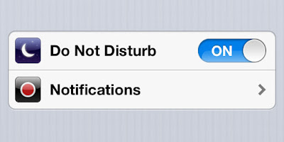 Do not disturb mode is on