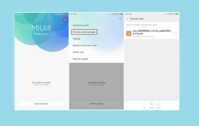 Flash ROM Downgarede MIUI Tanpa PC dengan Updater