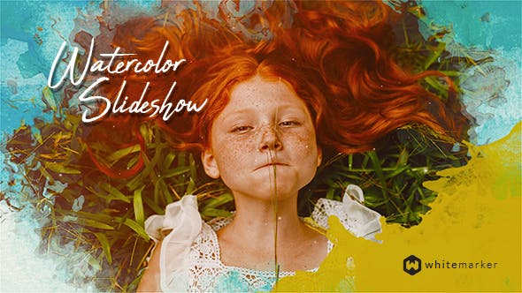 Watercolor Slideshow : After Effects Template