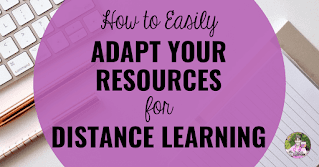 How to Adapt Your Resources for Distance Learning