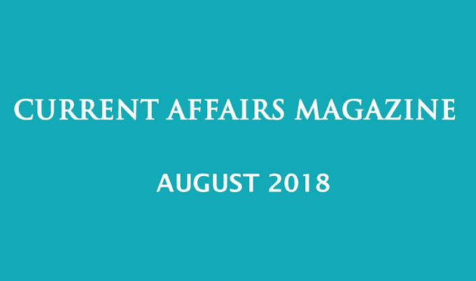 Current Affairs August 2018 by Shankar IAS- Download PDF
