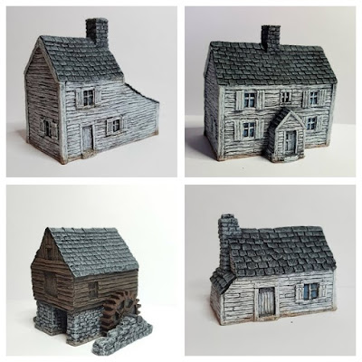 4 - Piece ACW / AWI Buildings Set from Battlescale