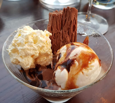 Capocci's Italian gelato review with chocolate sticks and caramel