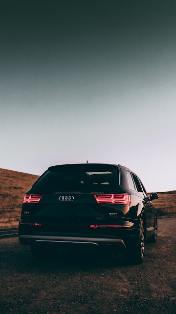 HD Wallpaper Audi Q7, Black Car, SUV, Road