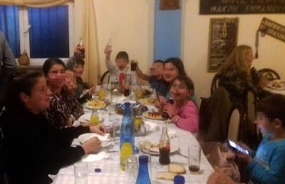 Γεύμα για τα παιδάκια του κατηχητικού της ενορίας Κεστρίνης Θεσπρωτίας