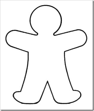 Outline Of A Person Coloring Page