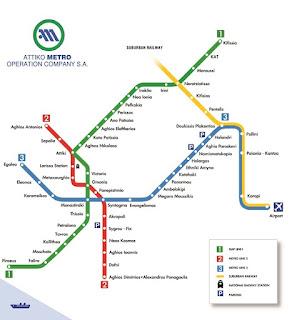 Mappa metro di Atene