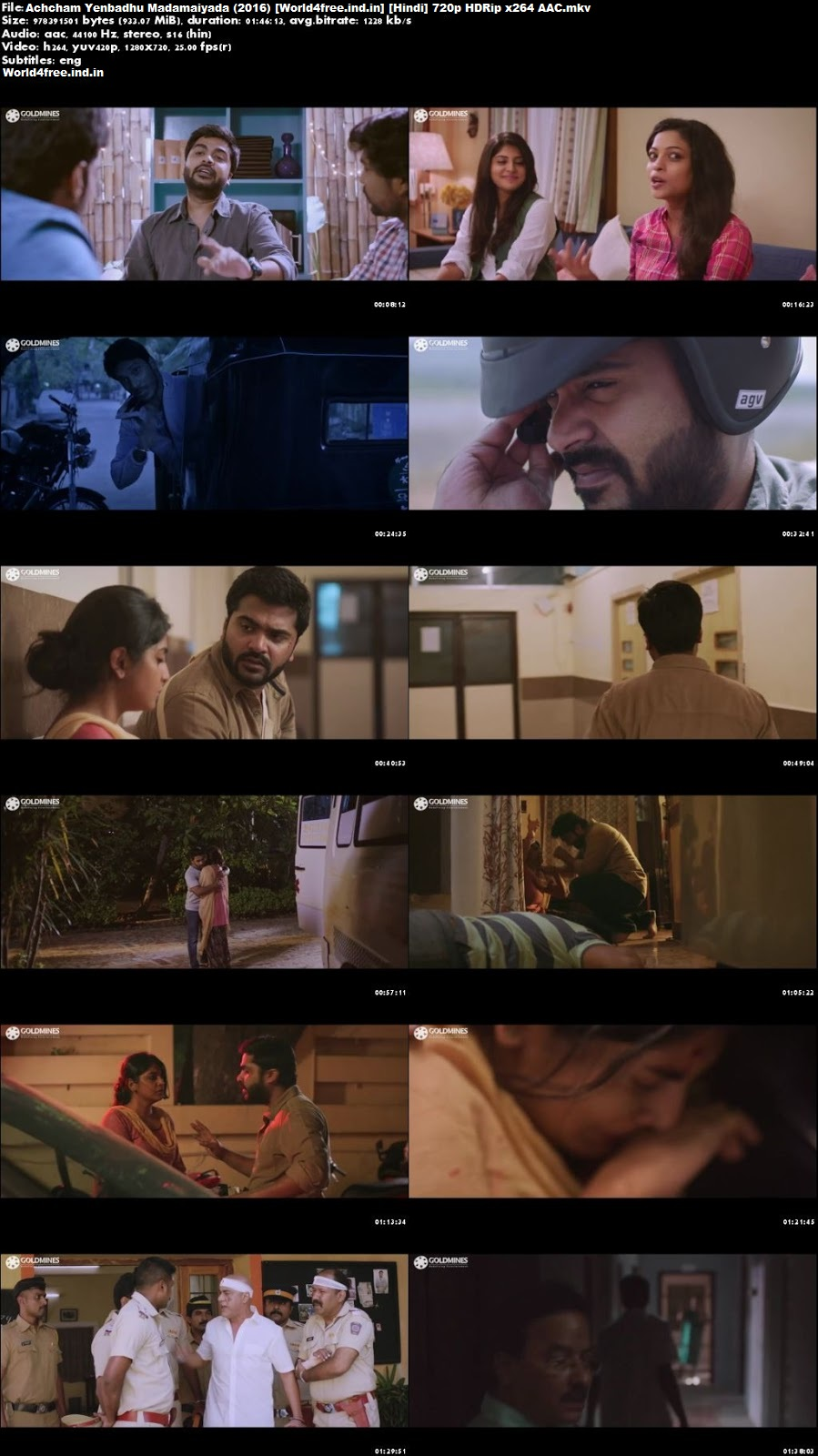 Achcham Yenbadhu Madamaiyada 2016 world4free.ind.in HDRip 720p Hindi Dubbed Movie Download