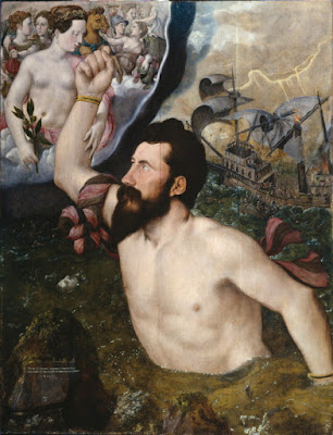 Allegorical portrait of Sir John Luttrell by Hans Eworth, 1550