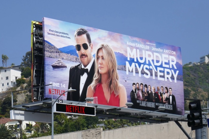 Murder Mystery film billboard