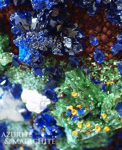 アズライト 藍銅鉱 Azurite Aouli-Mibladen Province khenifra Morocco