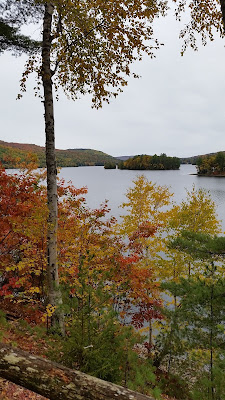 Kennebec River, Moscow Boat Launch View Maine Fall Foliage