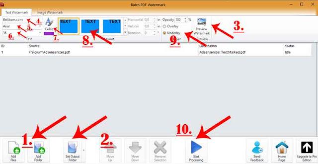 Cara membuat watermark di pdf dengan software