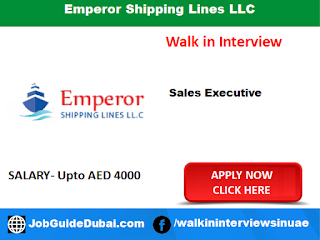 Walk in Interview at emperor shipping lines llc for Sales Executive