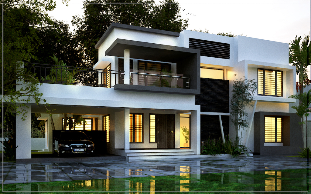 Beautiful contemporary style residence 4 bed room residence