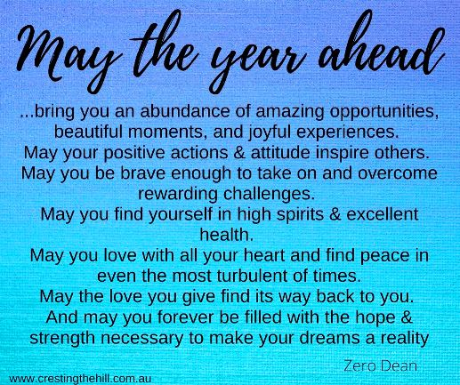 may the year ahead bring you an amazing abundance of new opportunities #lifequote